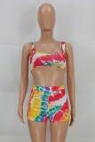 Sommer Sexy Multicolor BH und Shorts 2-teiliges Set