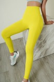 Summer Sports Gelbe Yoga-Leggings mit hoher Taille