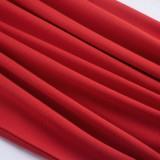 Sommer Vintage Rotes ärmelloses Bleistift-Bürokleid