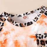 Conjunto de pantalones cortos de 2 piezas con estampado Tie Dye de verano para bebé niña