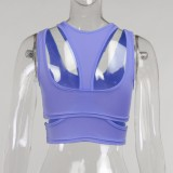 Sommer Sexy Lila Cut Out Party Crop Top