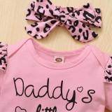 Baby Mädchen Sommer 3-teiliges Leopardenhosen-Set