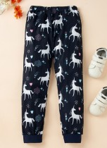Pantaloni estivi con stampa animalier bambina Kids