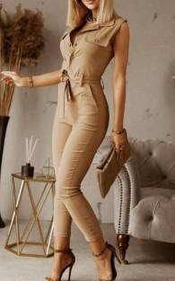 Macacão formal de verão para senhora sem mangas
