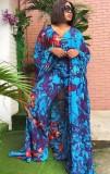 Summer Plus Size Mother of the Bride Long Blusa y pantalones Conjunto de 2 piezas
