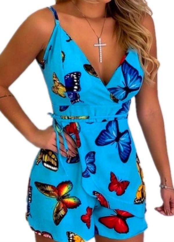 Mamelucos de verano con correa de mariposa clásica