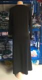 Verano Dubai Árabe Oriente Medio musulmán Kaftan islámico Abaya Vestido largo negro
