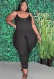 Mono holgado con correa negra informal de talla grande de verano