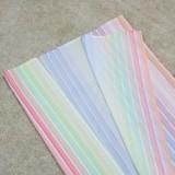 Summer Plus Size Stripes Top corto anudado y pantalones con abertura 2 piezas