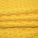 Summer Casual Waffle Yellow Shirt and Pants Conjunto de 2 piezas