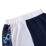 Conjunto de camisa y pantalón con estampado de dos piezas de verano para niños y niños