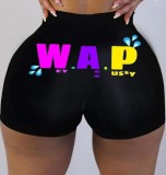 Summer Cute Print Sexy cintura alta Fitness Jogger Shorts