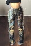 Pantalones de borlas con estampado casual de otoño