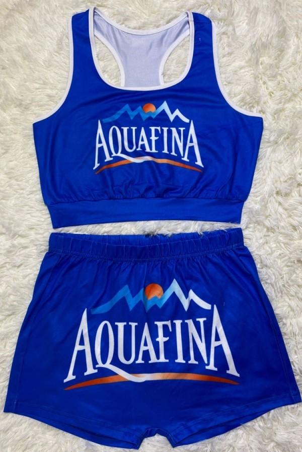Conjunto de 2 piezas de chaleco y pantalones cortos deportivos con estampado Summer Snack