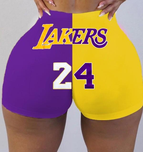 Pantalones cortos deportivos de cintura alta con estampado de verano