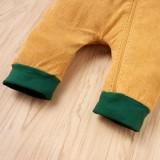 Mamelucos con cremallera de invierno con bloques de color para bebé
