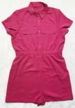 Pagliaccetti cargo a maniche corte rosa casual estivi