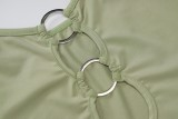 Summer Party Green O-Rings Camiseta sin mangas con tirantes sexy
