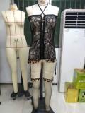 Summer Black Lace 2PC Conjunto de lencería Galter
