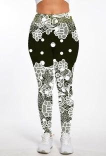 Летние брюки с цветочным принтом и высокой талией