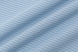 Body de tirantes básico acanalado azul de verano