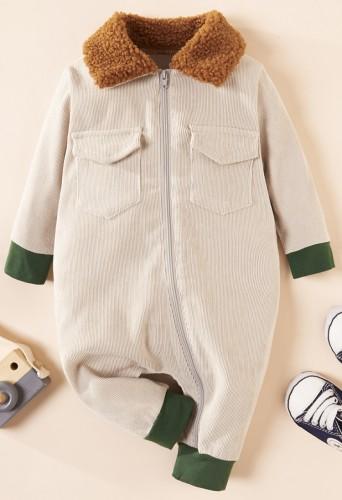 Barboteuses d'hiver à blocs de couleurs pour bébé garçon