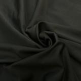 Vestido camisero negro con cuello en V y talla grande de verano