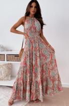 Sommerkleid mit Hawaii-Print, langes Maxi-Sommerkleid