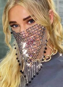Вечернее сексуальное покрытие для лица с бахромой из бисера