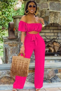 Sommer Rose Cut Out Kurzarm Sexy Trägerloser Overall