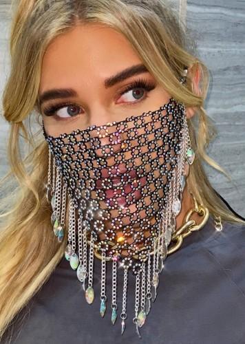 Couvre-visage à franges perlées sexy