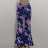 Jeans de cintura alta con efecto tie dye de verano
