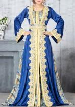 Sonbahar Dubai Arap Orta Doğu Müslüman Kaftan İslam Abaya Uzun Elbise