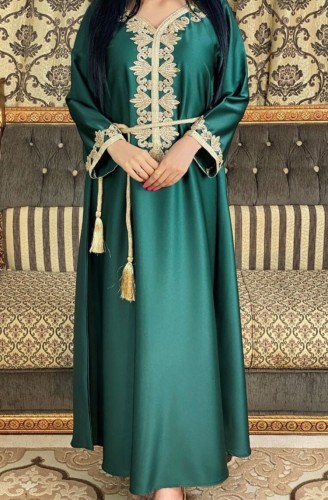 Árabe Dubai Árabe Oriente Médio Turquia Marrocos Vestuário islâmico Kaftan Abaya Vestido muçulmano bordado