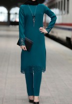 アラブドバイアラブ中東トルコモロッコイスラム服カフタンアバヤイスラム教徒の伝統的なツーピースパンツスーツ
