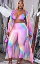 Herbst Sexy Rainbow BH und Hose mit passenden Overalls 3PC Set