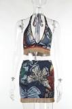 Set coordinato per reggiseno e pantaloncini boho con nappe a farfalla autunnali
