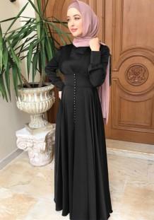 Арабский Дубай Арабский Ближний Восток Турция Марокко Исламская одежда Кафтан Абая мусульманское платье Черный