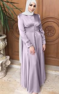 Арабский Дубай Арабский Ближний Восток Турция Марокко Исламская одежда Кафтан Абаяс Мусульманское платье Фиолетовый