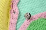 Herbst-Farbblock-Pullover mit kurzen Ärmeln Crop Top