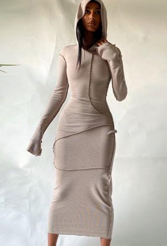Arap Dubai Arap Ortadoğu Türkiye Fas İslami Giyim Kaftan Abaya Kapşonlu Müslüman Elbise Haki