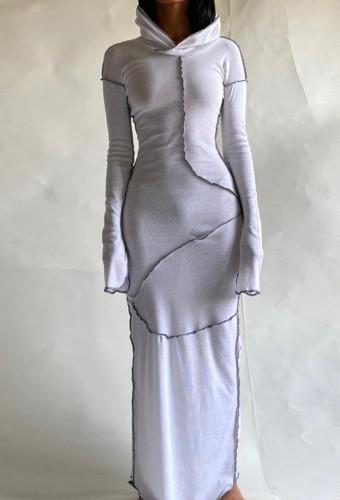 Arap Dubai Arap Ortadoğu Türkiye Fas İslami Giyim Kaftan Abaya Kapşonlu Müslüman Elbise Beyaz