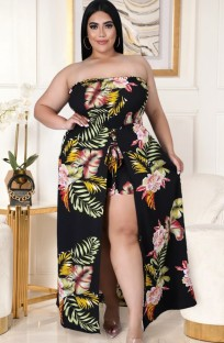 Summer Plus Size Straless Rompers Long Sundress