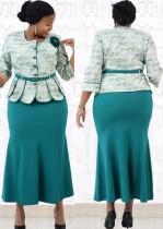 Herbst Langes Kleid für die Brautmutter in Übergröße