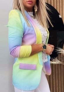 Vestido casual de manga corta con hombros descubiertos y raya colorida de talla grande de verano