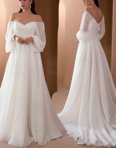 Herbst formales weißes Schatz A-Linie langes Abendkleid