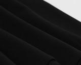 Abito skater vintage nero elegante con colletto alla rovescia estivo