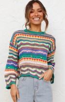 Autumn Hollow Out Suéter de jersey multicolor