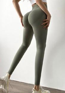 Серые леггинсы с завышенной талией Summer Yoga