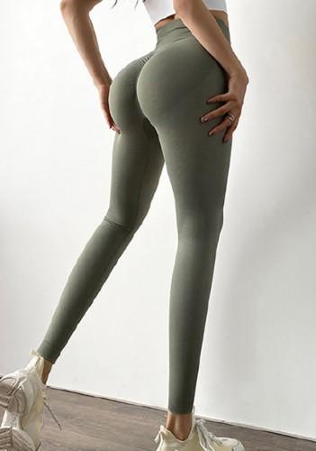 Leggings Scrunch de cintura alta grises de yoga de verano